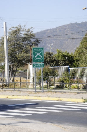 Police road sign