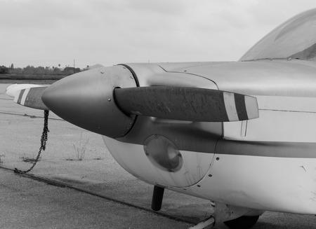 Black and white plane propeller Фото со стока