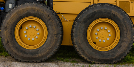Two large tractor tires Stock Photo