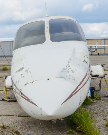 Airplane with no wings being sold for parts