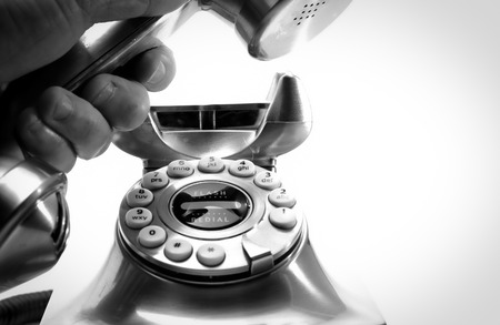 Making a business telephone call