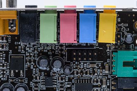PC computer sound card Фото со стока