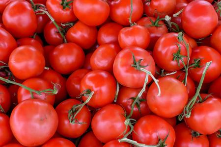 地元の農場からの新鮮なトマトの箱