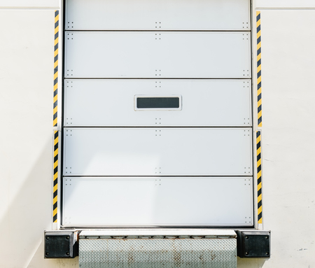 Receiving door on loading dock