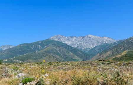 南カリフォルニアの山のはげ頭 写真素材