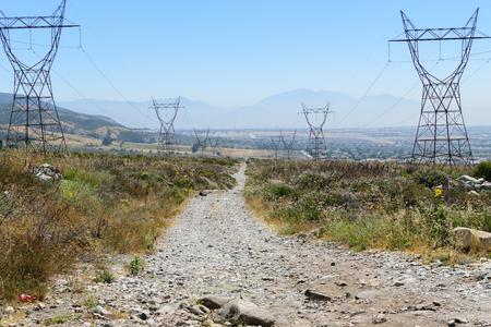 砂漠地帯でのダート道