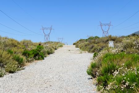 南カリフォルニアの火泥道