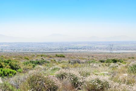朝は南カリフォルニア スモッグ 写真素材