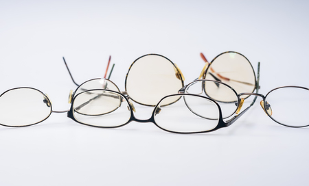 コピー テキスト領域を持つ古い眼鏡