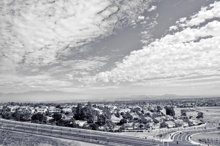 Zwart en wit binnenlands rijk van Zuid-Californië Stockfoto - 88610650