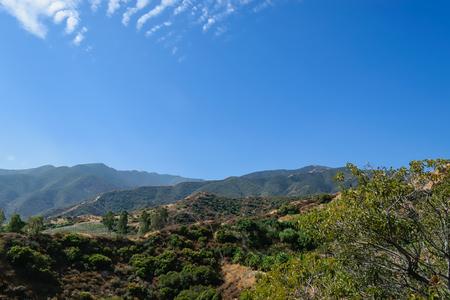初秋の南カリフォルニアの山