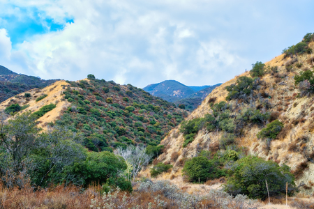 Late fall rain over Southern California mountains Stockfoto
