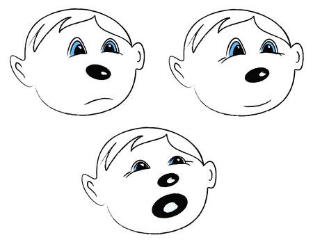 Illustration of Child emotions  - vector Stock Vector - 4380421