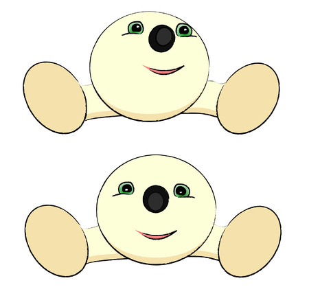 aside: Illustration of a Cute round creature - vector