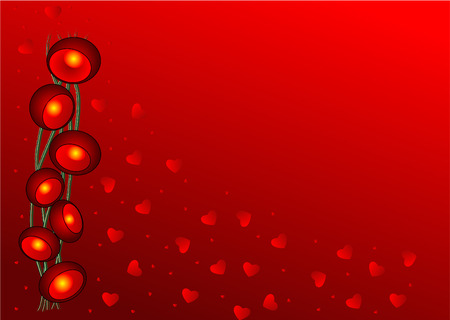 passion flower: Valentines Day wallpaper with Red flowers