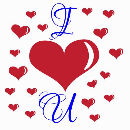 Día abstracto de los corazones de San Valentín feliz