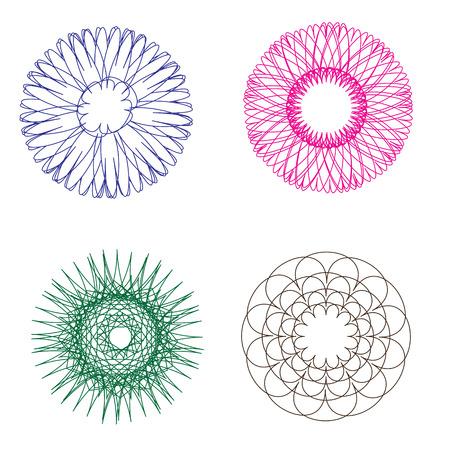 spirograph: Spirograph holographic vectors Illustration