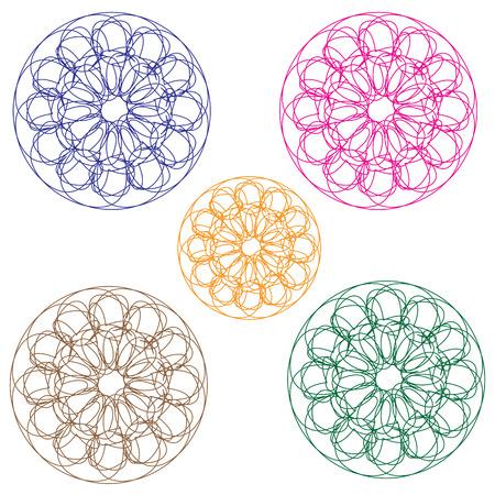 spirograph: Spirograph holographic vector Illustration