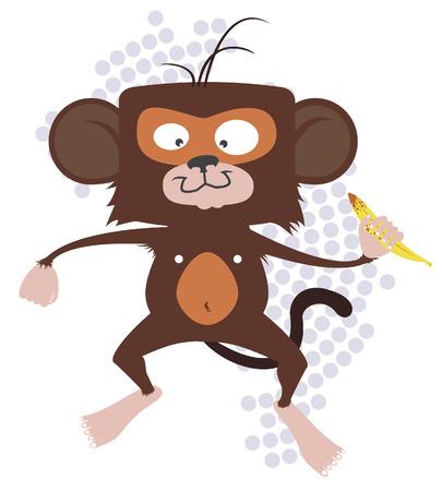 hominid: Monkey with banana Illustration