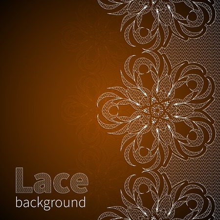 Brown satin background with lace Stock Vector - 30224160 0d08d1c68