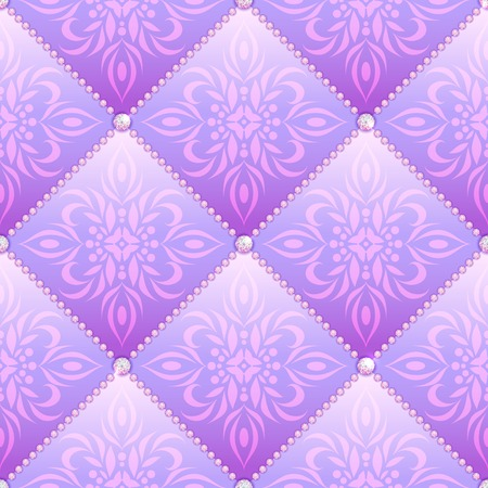 quilted fabric: Lilac glamor satin quilted seamless texture of fabric with diamond buttons and classic pattern