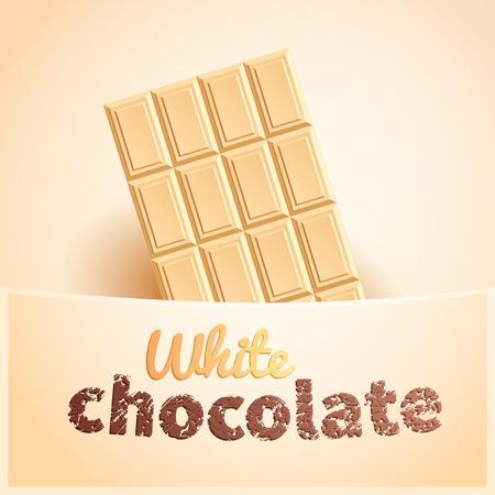 chocoholic: Bar of white chocolate in creamy pocket