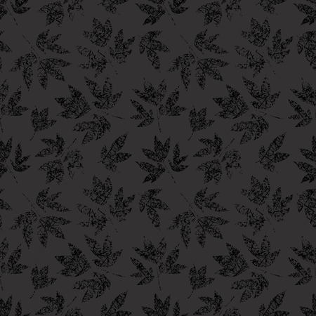 gossamer: Dark grunge floral seamless pattern with black scratched leaves peony print