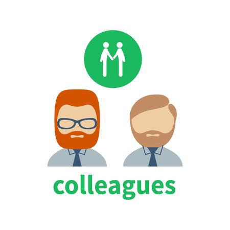 illustrating: Bright icon and avatar, illustrating the relationship between spouses Illustration