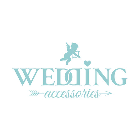 Classic wedding vintage badge in retro design for for Wedding Accessories salon 일러스트