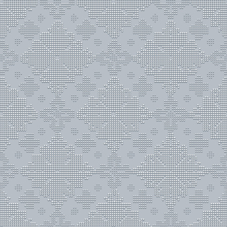 bead embroidery: Delicate seamless classic pattern in the form of bead embroidery ornament on the gray background