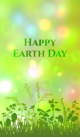 Vertical image card for Happy Earth Day