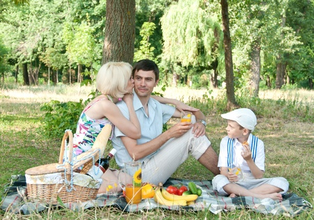 picnick: Family picnick on the outdoors Stock Photo