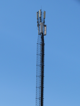 Mobile phone base station  Telecommunications tower  photo