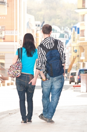 proximity: Boy and girl looked happy in love Stock Photo