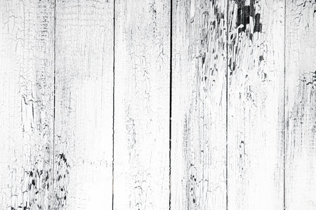 Background of old worn boards white. Banco de Imagens