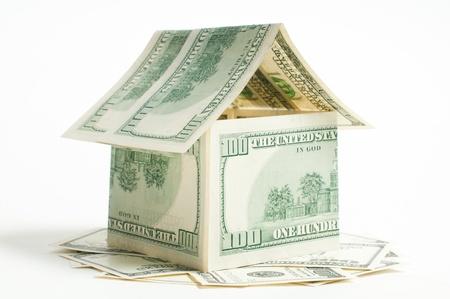 House of one hundred dollar bills Stock Photo