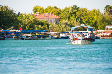 Turkey, a boat trip on the river Dalyan photo
