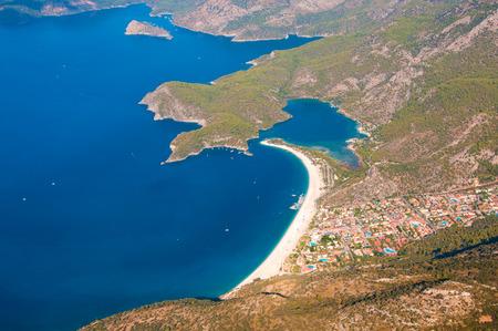 oludeniz: Panoramic birds-eye view on Turkey, Oludeniz, Mediterranean