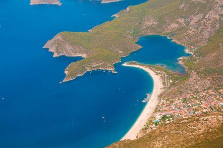 oludeniz: Oludeniz view from parachute, Fethiye, Turkey
