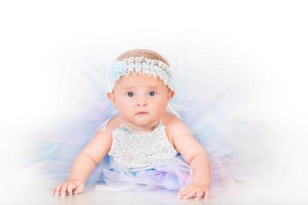 infancy: Stylish infancy, babe in lush skirt
