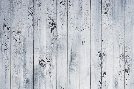 Background of old worn boards white. Stockfoto