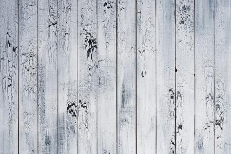 Background of old worn boards white. Archivio Fotografico