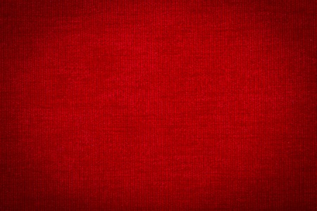 Natural linen fabric for embroidery. Red color Stock Photo