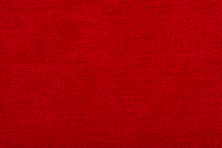 impression: Natural linen fabric for embroidery. Red color Stock Photo