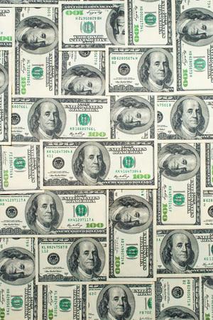Fondo de billetes de dólar dispersos como abstracto sin fisuras. Foto de archivo - 75344309