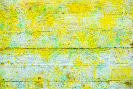 Background and Wallpaper or texture of Wooden board or table wood full of colors From the production of art. Bring the abstract color scheme. The red is the main. Stock Photo