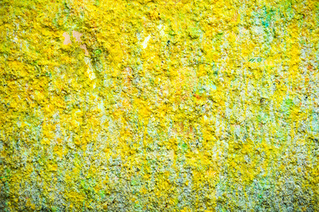 Background and wallpaper or texture yellow wall Stock Photo