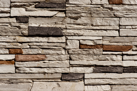 Stone Brick wall seamless background - texture pattern for continuous replicate. Stok Fotoğraf