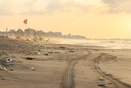 alexandria egypt: Wasted beach at El Agamy, Alexandria, Egypt