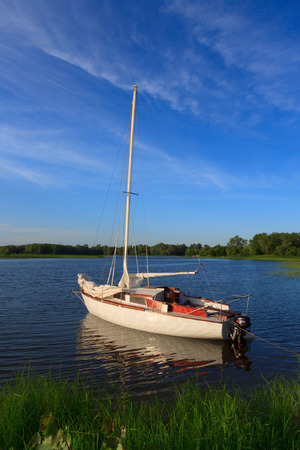 rivals rival rivalry season: yacht standing by the shore on still water